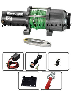 12V Wireless 4000lbs/1814kgs Synthetic Rope Electric Winch