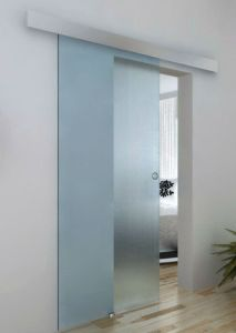 Modern Glass Sliding Door with Aluminum Top Track pictures & photos