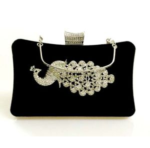 Peacock Velvet Dazzling Deisgner Handbag Evening and Clutch Bag (XW0943) pictures & photos