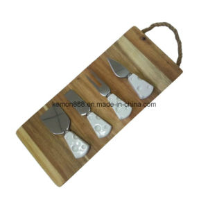 Cheese Board with Ceramic Handle Set (65052)