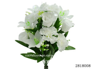 Artificial/Plastic/Silk Flower Rosebud/Lily/Carnation Mixed Bush (2818008) pictures & photos