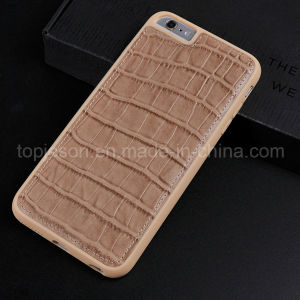 Flat Crocodile Pattern Genuine Leather Case for iPhone 6 Plus