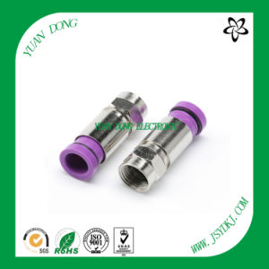 F Compression Connector for RG6 Coaxial Cable pictures & photos