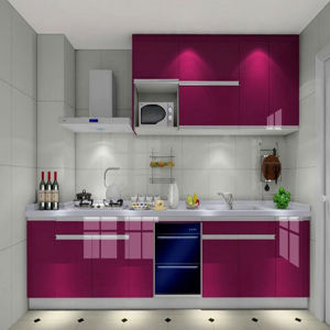 High Glossy UV Kitchen Cabinet (K-035)