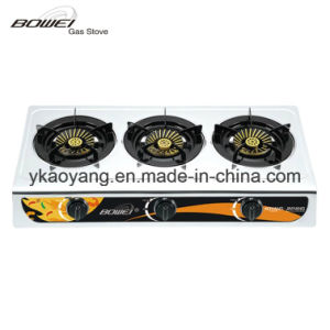 Portable Top Sale 3 Burner Gas Stove Model