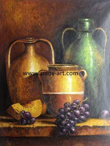 Handmade Still Life Oil Painting For Kitchen Room