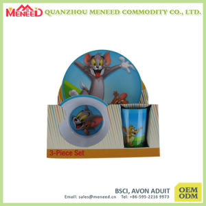 Lovely Cat Print Kids Use Safe Melamine Dinnerware