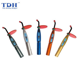 Wireless Dental LED Curing Light with Lotus Base Tdh-Cl09