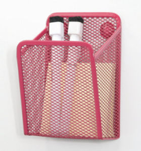 Pink Desk Accessories/ Metal Mesh Stationery Magnetic Hanaging/ Office Desk  Accessories