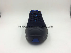 Blue Color Suede Leather Safety Toe Sports Shoes (16077) pictures & photos