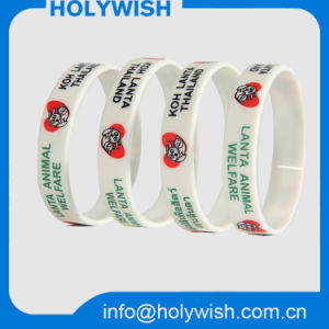 Solid Color One Inch Wristbands Silicone Made in China