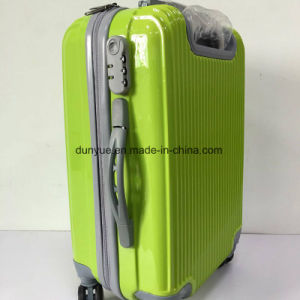 Factory Make ABS and PC Material Hard Cover Luggage Suitcase, Promotion OEM Super Light Trolley Bag Case