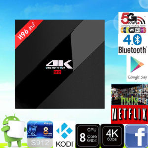 H96 PRO+ Amlogic S912 Octa Core Android 6.0 3GB/32GB WiFi Bt4.0 2.4G/5.8g H. 265 4k Enough Stock Marshmallow TV Box pictures & photos