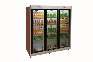 New Arrival Air Curtain Refrigerator for Fruit Milk for Supermarket