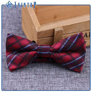 Bred Grid Colored Silk Woven Tartan Bow Tie pictures & photos