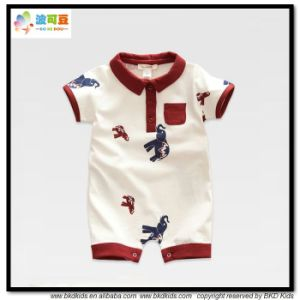 Polo Neck Kids Clothes Short Sleeve Kids Rompers pictures & photos