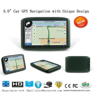 "Unique Factory Sale 5.0"" Wince GPS Navigation with Bluetooth AV-in ISDB-T Tmc USB Host Function pictures & photos"