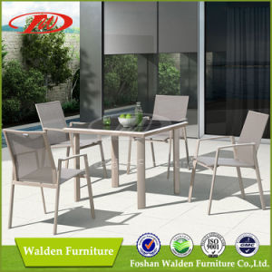 2016 New Design Sling Chair and Aluminium Table with Glass Top for Outdoor Garden Patio Use pictures & photos