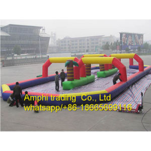 Outdoor Inflatable Air Race Track for Sale/Inflatable Go Karts Race Track