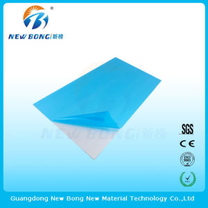 Transparent Blue Color Self Adhesive Protective Films for Aluminium Mirror pictures & photos