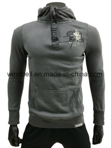 High Quality 100% Cotton Fleece Playsuit Hoody for Men with Print pictures & photos