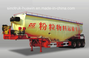 3-Axle 50cbm V Type Bulk Cement Semi Trailer pictures & photos
