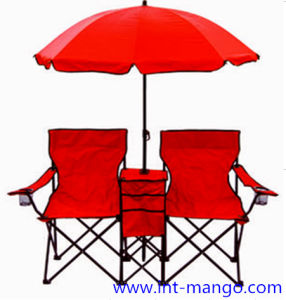 Awe Inspiring Double Seats Folding Beach Chair With Umbrella Mw11008A Gmtry Best Dining Table And Chair Ideas Images Gmtryco