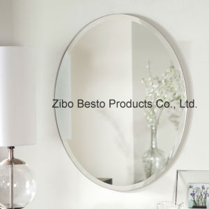 Silver Full Length Oval Wall Mirror