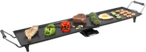 10-Person Party Grills/Griddles, with Nonstick/Ceramic Coated, Grill Surface 90.5X23.5cm