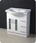 High White Gloss Painting MDF Bathroom Cabinet with Buddy Belly Basin pictures & photos