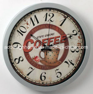 China Silvery Plastic Wall Clock With