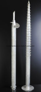 Hot DIP Galvanized Round Flange Plate Ground Screw pictures & photos