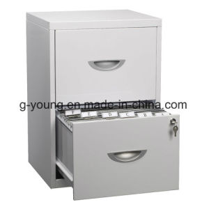 Modern Light Grey Mobile Metal Pedestal Office Cabinet
