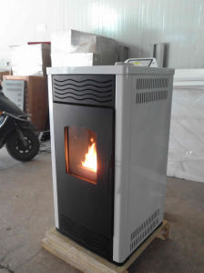 24KW Stainless Steel Autoignition Wood Pellet Fireplace with Radiators