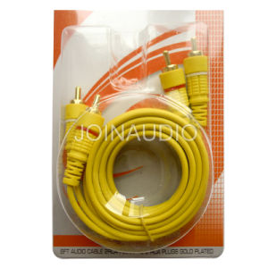 Audio Cable RCA Cable 2RCA to 2RCA Cable Yellow Wire (2R-2R YELLOW) pictures & photos