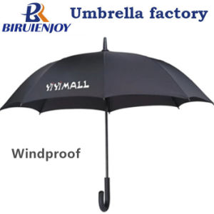 Custom Windproof Advertising Sun Straight Umbrella with Logo Printed 23inch Auto Open