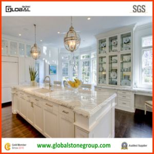 High End White Marble Kitchen Island Tops for Commercial/ Residential