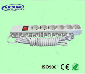 High Quality 10A European 2 Pin Power Extension Socket pictures & photos