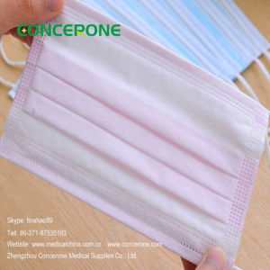 Disposable Factory Non Woven Pink Surgical Face Mask pictures & photos