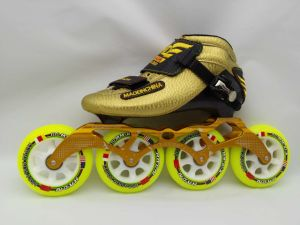China Inline Speed Skates Racing Boots Package Roller