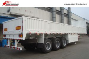 Tri Axle Dropside Semi Trailer for Truck pictures & photos