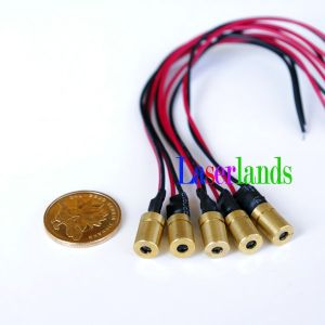 3.2MW 5MW 3V-3.6VDC Mini 650nm Red Laser Light