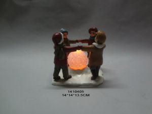 Polyresin Snow Baby Christmas Decoration