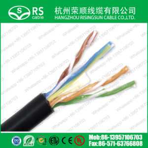 Bulk Outdoor CAT6 UTP Ethernet Cable 1000feet Black Direct Burial