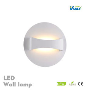 Led Wall Lamp Silver Fabric Modern Light With On Off Switch