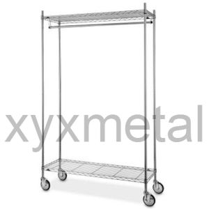 Commercial Grade Moveable Multifunction Chrome Garment Rack pictures & photos