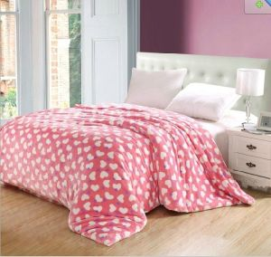 Pink Point Coral Fleece Bedding Set