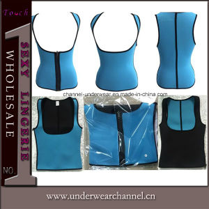 Lady Plus Size Lingerie Sexy Latex Waist Training Corset (TKSQ7070) pictures & photos
