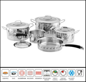 Hot Stainless Steel Kitchen Queen 9pcs Cookware Set