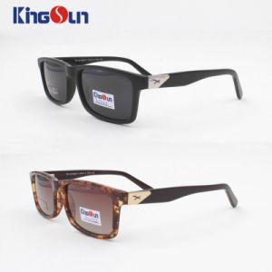 New Coming Fashion Acetate Sunglasses with Polarized Lens, Temple with Logo pictures & photos